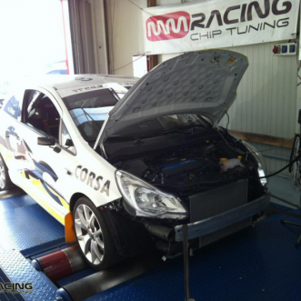 testovanie a kalibrovanie Opel Corsa OPC Rallye Cup v MMRACING chiptuning