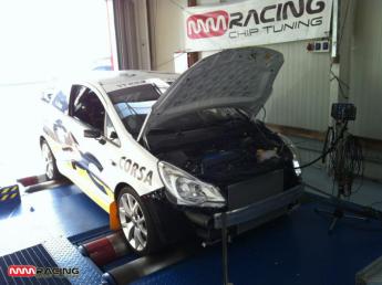 testovanie a kalibrovanie Opel Corsa OPC Rallye Cup v MMRACING chiptuning